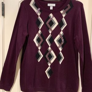 NWOT Charter Club Sweater w/sequins-MEDIUM
